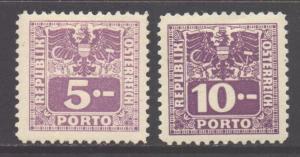 Austria SG D903/D904, 1945 Postage Due 5m & 10m MH*
