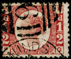 SG48, ½d rose-red PLATE 13, FINE USED. Cat £22.