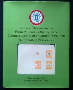 Auction cat.  AUSTRALIAN STATES to COMMONWEALTH OF AUSTRALIA 1850-1960 Besancon