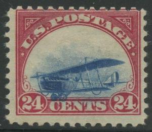 #C3 VAR 24c 1918 AIRMAIL GROUNDED PLANE MAJOR ERROR MINT OG HR RARE WLM7500