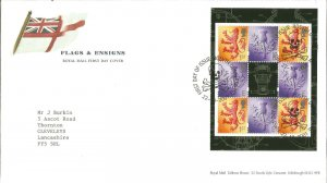 Flags & Ensigns Royal Mail First Day Cover 2001 Rosyth Dunfermline Pmark Z9343