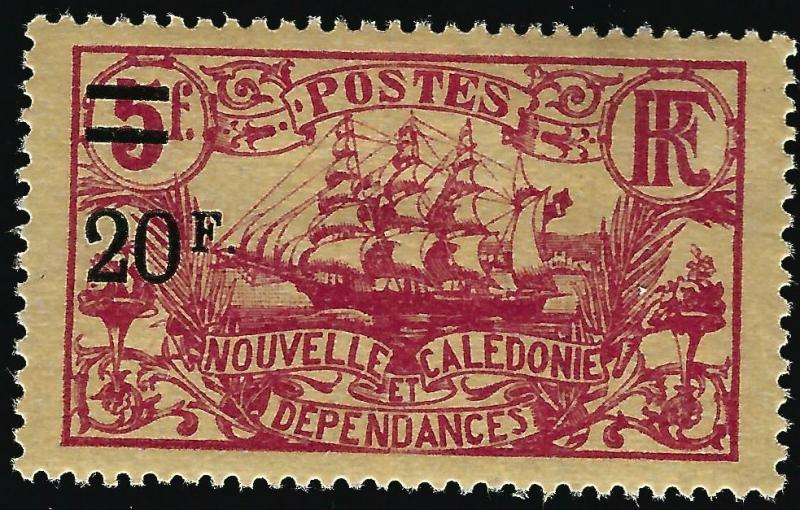 New Caledonia #135 Mint F-VF thin ....Chance to bid on a real Bargain!