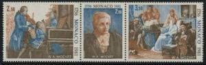 Monaco 1277a MNH Mozart, Music