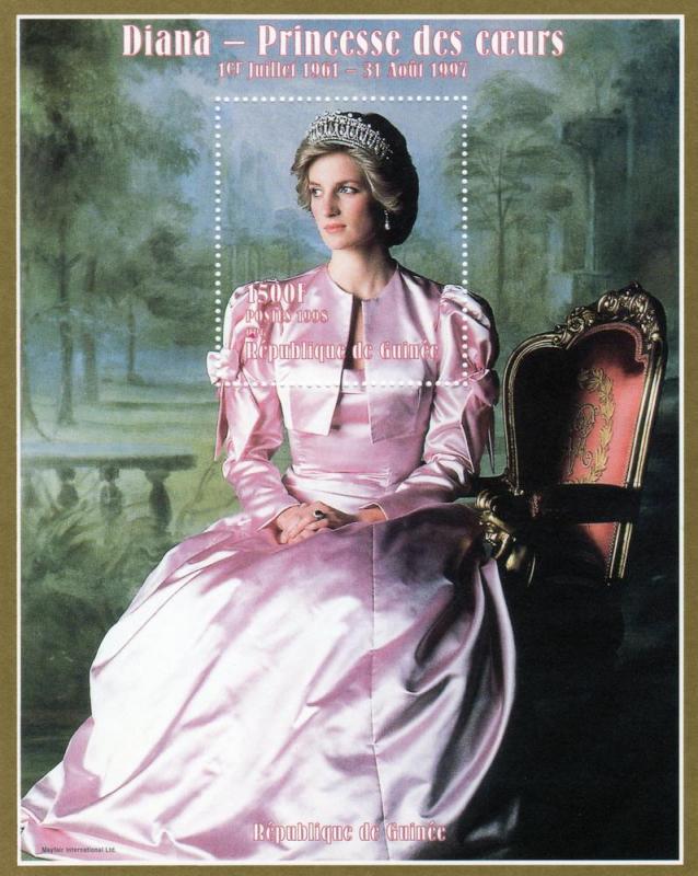 Guinea MNH S/S Diana Princess Of Wales 1998