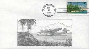 C127 45c AMERICA AIR MAIL - R. C. DeSpain cachet