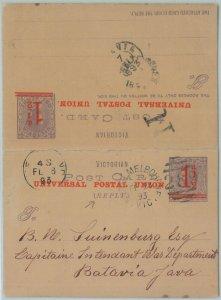74112 - POSTAL HISTORY - AUSTRALIA Victoria - DOUBLE STATIONERY CARD - HG # 13