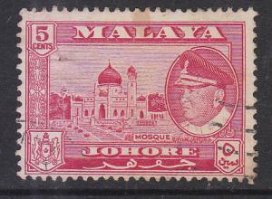 Malaya Johore 1960 Sc 161 5c Used