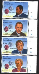 Grenada. 1989. 1211-14. Theater, actors. MNH.