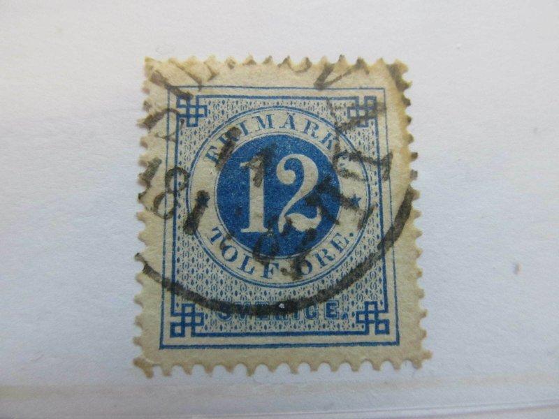 Schweden Suède Suecia Sweden 1872-77 12o Perf 13 fine used stamp A11P14F27