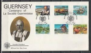 Guernsey, Scott cat. 240-245. Society issue. Insect & Bird. First Day Cover.