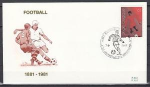 Belgium, Scott cat. 1076. Soccer Club Player issue. First day cover. ^