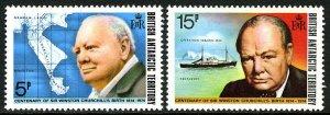 British Antarctic Territory 62-63, MNH. Sir Winston Churchill, birth cent. 1974