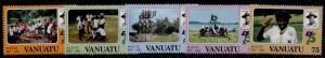 Vanuatu 337-41 MNH Scouting Year