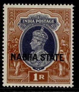 INDIAN STATES - Nabha GVI SG89, 1r grey & red-brown, M MINT. Cat £16.