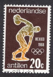 Netherlands Antilles  #314  1968 cancelled  Olympic games Mexico  20 t