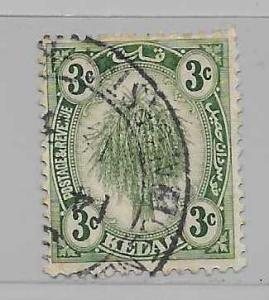 Malaya - Kedah 27 Sheaf of Rice single Used