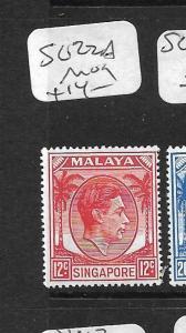 SINGAPORE (PP1101B) KGVI 12C  SG 22A  MOG