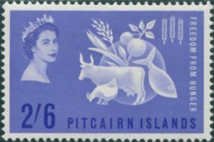 Pitcairn Islands 1963 SG32 2/6d Freedom from Hunger MLH