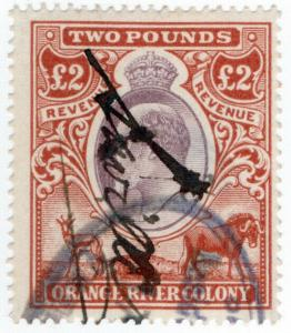 (I.B) Orange River Colony Revenue : Duty Stamp £2