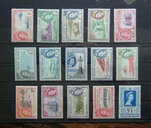 Cayman Islands 1953 - 1962 set to £1 MNH SG148 - SG161A
