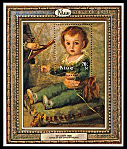 Niue B9, MNH, Year of the Child Goya Painting souvenir sheet