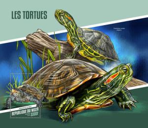 Z08 NIG18103b Niger 2018 Turtles MNH ** Postfrisch