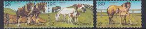 NEW ZEALAND  1984  HORSES SET OF 3  HEALTH    MNH