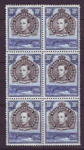 J24542 JLstamps 1938-54 kenya uganda tanzania blk/6 mnh #76 king