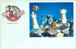 84849 - AZERBAIJAN - Postal History -  SET OF 2  FDC COVERS Chess DISNEY 1998
