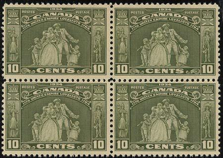 Canada - 1934 10c Loyalist Block of 4 mint #209