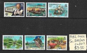 Guernsey MNH 240-5 Interesting Set Ships 1982 SCV 3.50