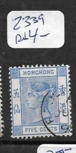 HONG KONG TREATY PORT (PP0402B) FOOCHOW QV 5C   SG Z339     VFU
