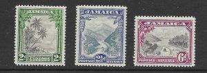 Jamaica 106-08 1932  set 3  unused
