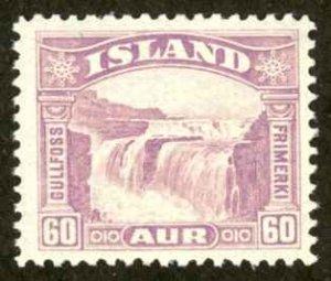 Iceland Sc# 173 MH 1932 60a Gullfoss (Golden Falls)