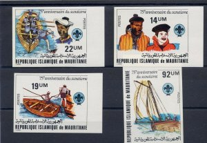 1982 Mauritania Boy Scouts 75th anniversary IMPERF