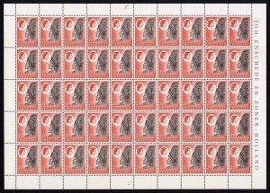 Swaziland 1962 SG93w 2 1/2c SHEET of a FIFTY  Wmk INVERTED Cat 125++ U/M