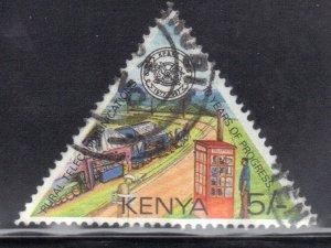 KENYA SCOTT# 411 USED 5sh 1987 RURAL COMMUNICATIONS  SEE SCAN