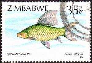 Zimbabwe 696 - Used - 35c Hunyani Salmon (1994)