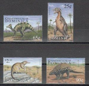 Dominica, Scott cat. 2133-2136. Dinosaurs issue. ^