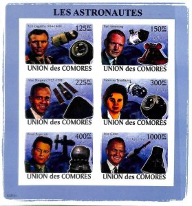 A0356 - COMORES Comoros - IMPERF 2008 stamp SHEET: Space ASTRO Astronauts