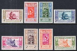 Dahomey 141-148 MNH VF