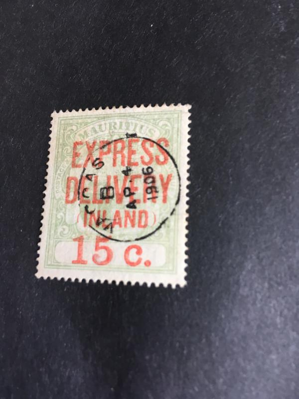 Mauritius Scott #E4 Used Express Delivery CDS Cancel WeRead AsVACOAS/AP 4/1906