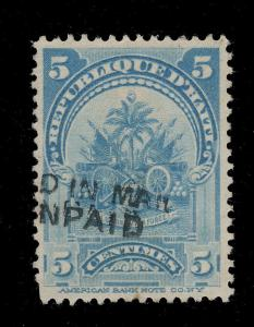 HAÏTI - 5c (1899) MiNr.51/Yv 54 CANCELLED NOT ENCLOSED IN MAIL/TAXED AS UNPAID
