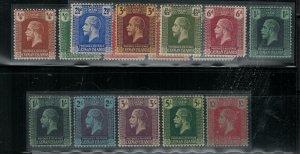 Cayman islands SC 50-63,59 shade Mint 1921-1926 SCV$ 192.00