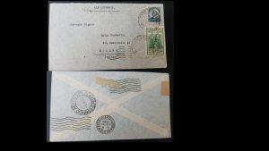 U) 1940, BRAZIL, LATI FLIGHT, TO ITALY MILAN, 100 TH FLIGHT, COVER