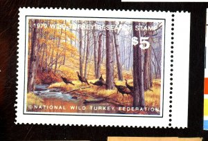 1979 WILD TURKEY RESEARCH STAMP FVF