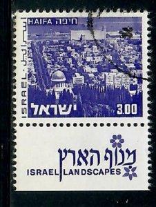 Israel #474 Landscape used single with tab
