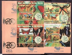 Somalia, 2011 Cinderella issue. Butterflies/Scouts, 4 s/shts. First day covers.^