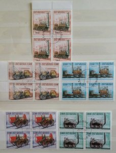 1997 Republique de Benin Railway Locomotives Trains Stamps Blocks of 4