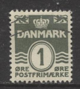 Denmark - Scott 220 - Definitive Issue -1933 - Used - Single 1o Stamp